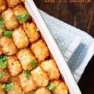 Chili Cheese Tater Tot Casserole.