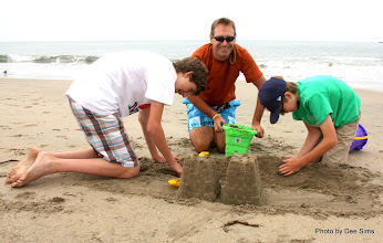 Photo: (Year 3) Day 22 -  All 3 Boys Having Fun in the Sand #2