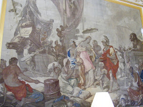Photo: The Salon Cléopâtre (formerly the Marquise de Pompadour's dressing room, and Napoleon III's study) takes its name from this Gobelins tapestry: The Meeting of Antony and Cleopatra.