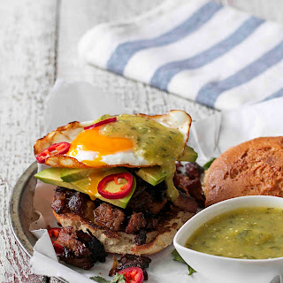 Citrus Carnitas and Fried Egg Sandwich with Salsa Verde