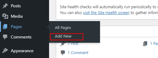 How to create a page on wordpress in India