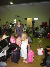 Photo: Waiting to get on the plane in Santa Cruz