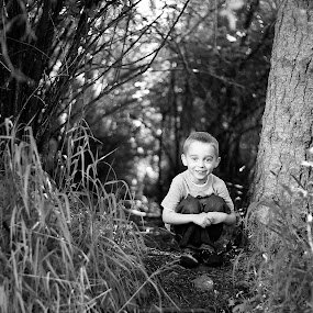by Amy Spurgeon - Babies & Children Child Portraits ( child, forest, portrait )
