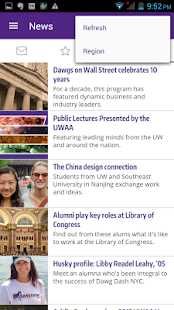 UW Alumni Association- screenshot thumbnail