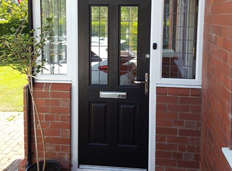 Composit Porch Door with Side Panels