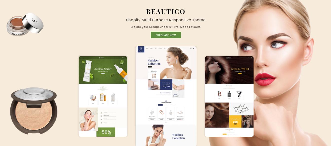 Beautico - Hair salon shopify theme