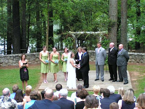 Photo: Ceremony in progress - Cannon Chapel on Lake Hartwell, Clemson, SC - http://WeddingWoman.net ~