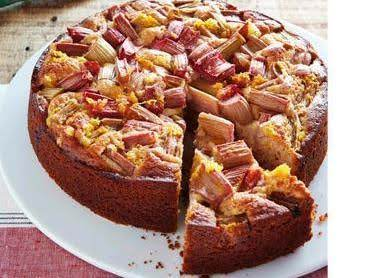 Rhubarb Yogurt Cake Recipe