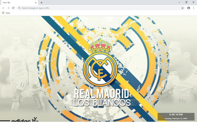 Real Madrid New Tab Wallpapers Collection