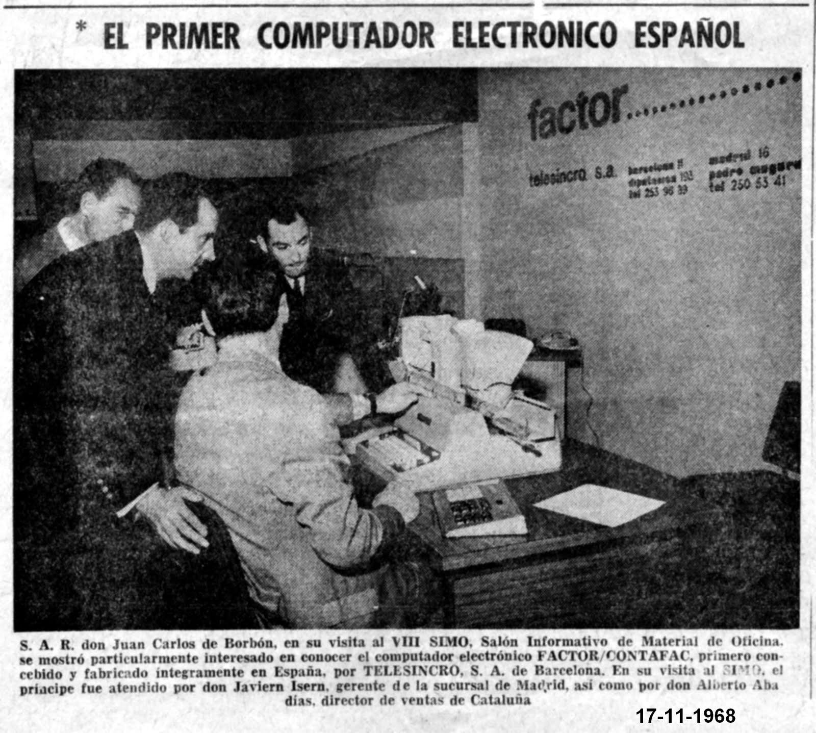 Photo: SIMO a Madrid, Novembre del 1968 Al teclat: Xavier Isern, al fons Albert Abadías