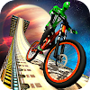 Impossible BMX Bicycle Superhero: Sky Tracks Rider