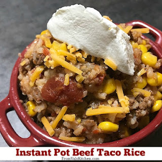Instant Pot Beef Taco Rice.