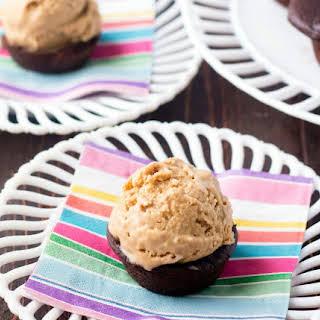 Coconut Ice Cream Chocolate Cupcakes.