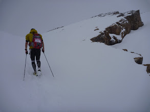 Photo: The ascent in the snow was hard ...