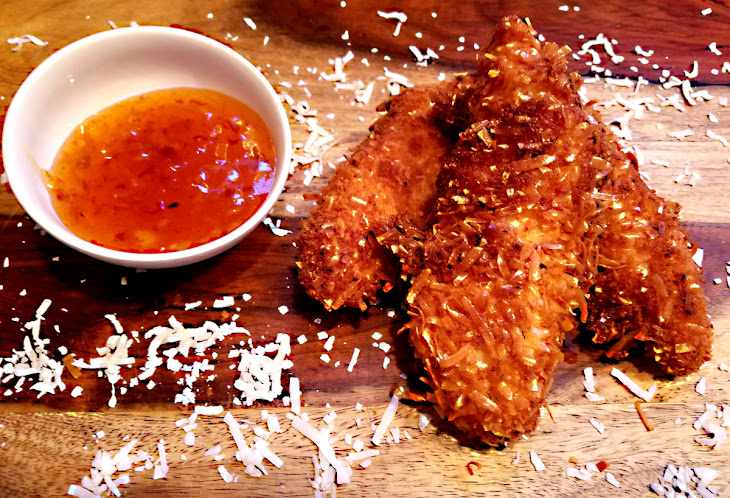 Coconut Chicken with Spicy Marmalade Dipping Sauce Recipe