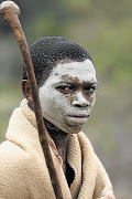 A boy at an initiation school in Eastern Cape