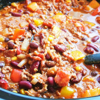 5 Hour Homemade Slow Cooker Chili.