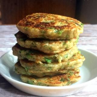 Amaranth-Green Onion Fritters {V+GF}.