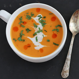 Curried Creamy Butternut Squash Soup.