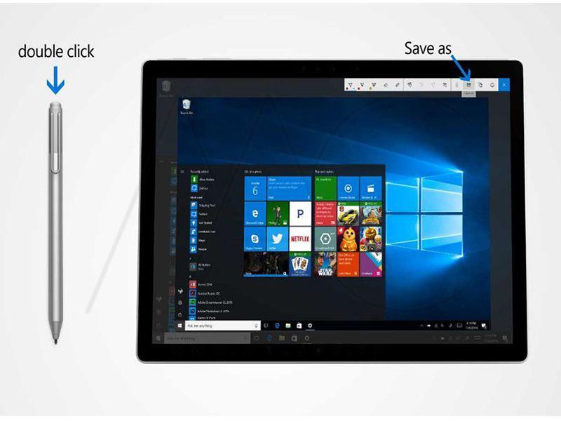 Cách chụp màn hình máy tính Surface bằng bút Surface Pen