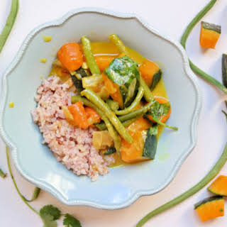 Creamy Pumpkin Curry with Coconut Brown Rice.