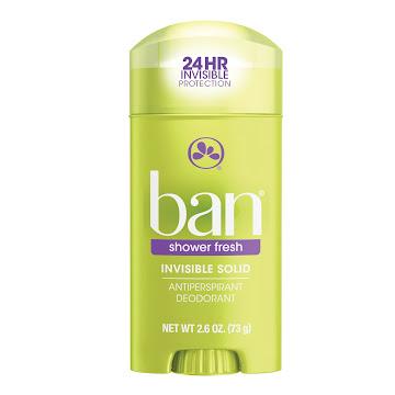 Desodorante Barra BAN   Invisible Solid Shower Fresh X73GR
