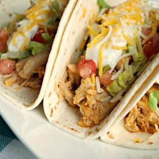 Crock-Pot Buffalo Chicken Tacos.