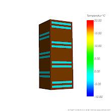 Photo: Anordnung der Lufteinschlüsse der simulierten Bauteilausschnitte Var 3