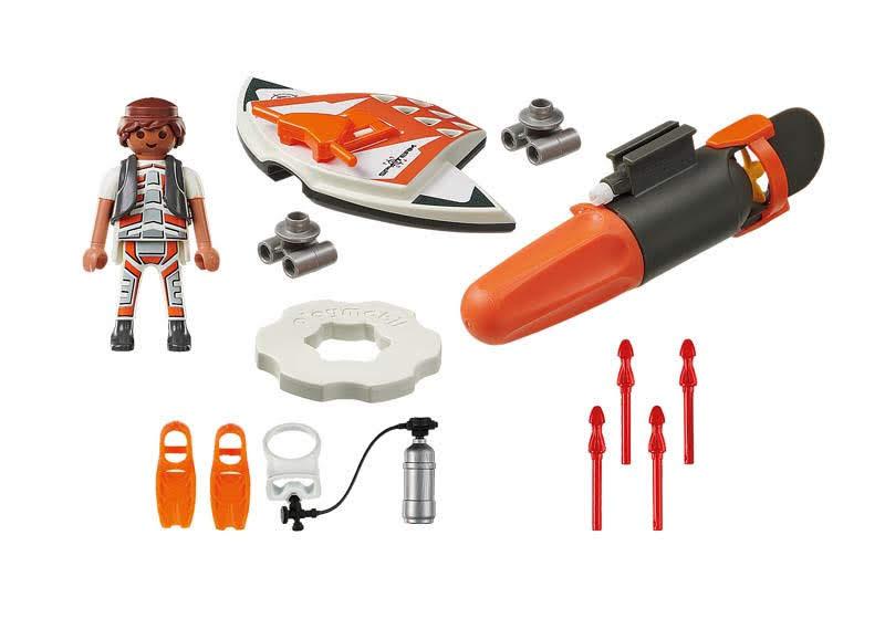 Contenido Real de Playmobil® 70004 SPY TEAM:  Ala Submarina