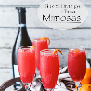 Blood Orange Thyme Mimosas.