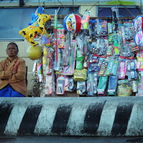 the doll seller by Gedion Kristianto - City,  Street & Park  Markets & Shops ( pwcmarkets )