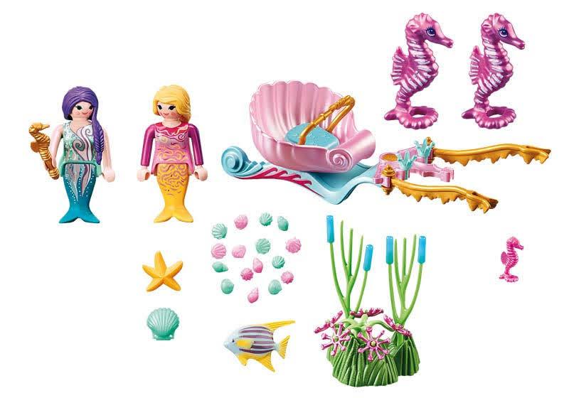 Contenido Real de Playmobil® 70033 Starter Pack Carruaje Caballitos de Mar