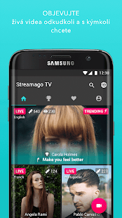Streamago - Live Video Selfies - náhled