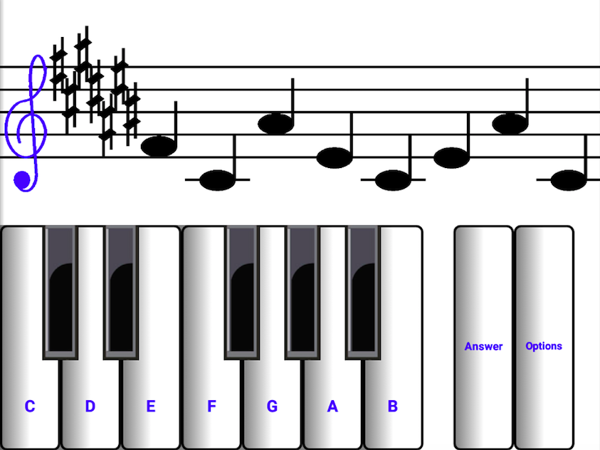 Learn sight read music notes ¼- screenshot