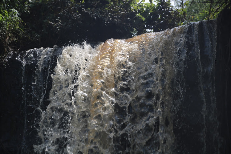 A waterfall in Nakuru county.