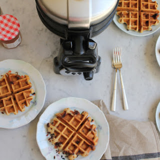 Chocolate Chip Flaxseed Waffles.