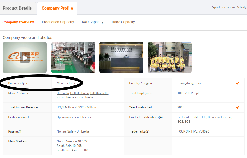 Alibaba manufacturers