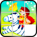 Slide Puzzle - Cartoon Kids icon