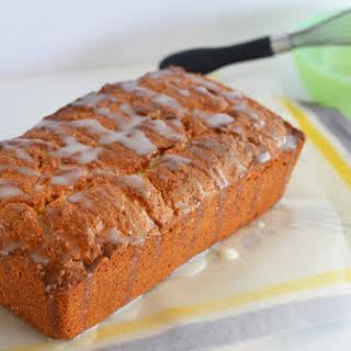 Iced Almond-Lemon Loaf Cake.
