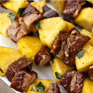 Steak and Pineapple Skewers.