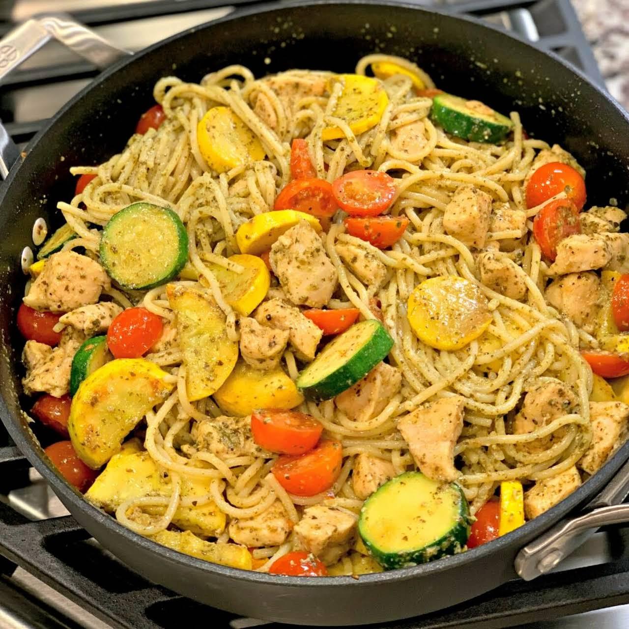 Mediterranean Pesto Pasta