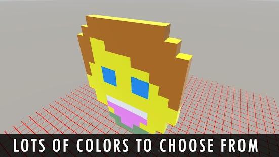 Voxel Editor 3D - Pixel Art Builder, Creator 2018 - náhled