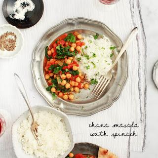 Chana Masala with Spinach.