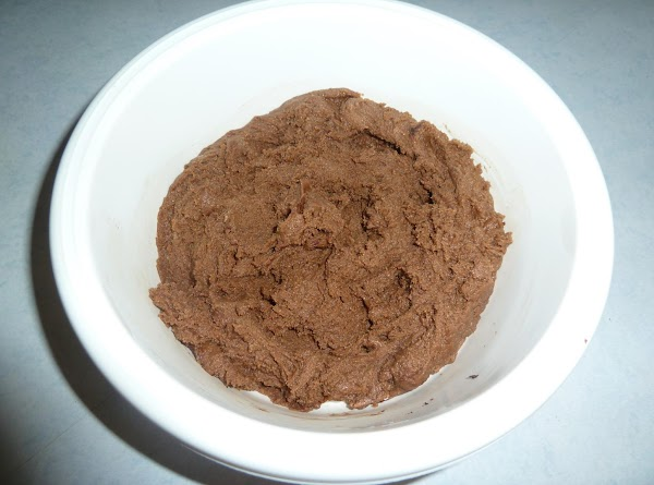 3. Add melted chocolate to bowl with most dough; mix well leaving no original...