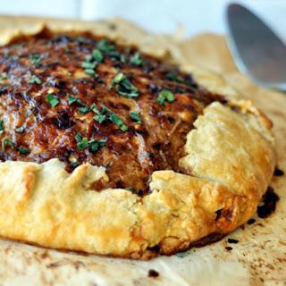 Rustic Potato and Caramelized Onion Tart.