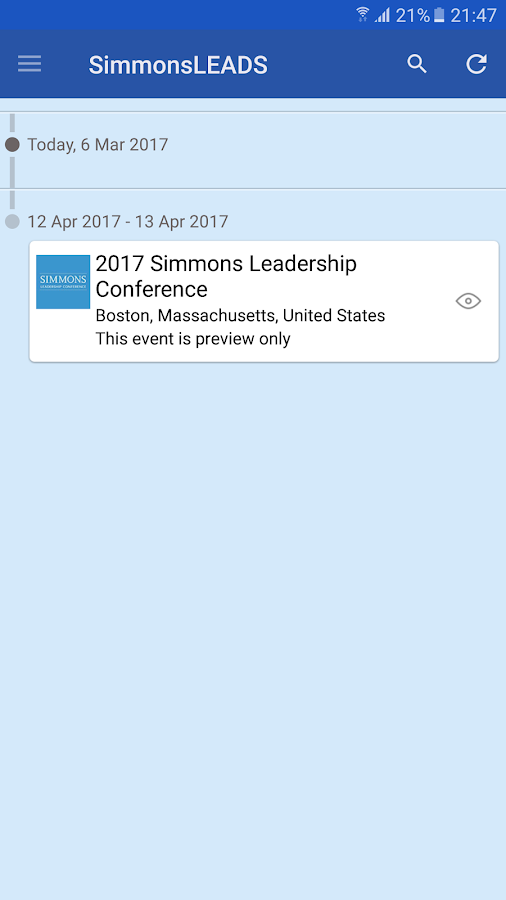 SimmonsLEADS- screenshot