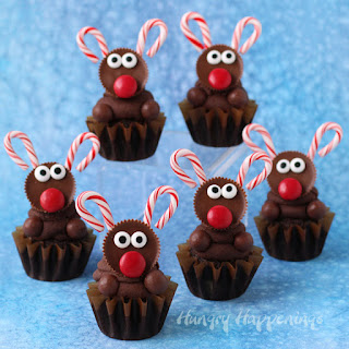 Ultimate Chocolate Reindeer Cupcakes