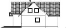 Domek Topolowy szkielet drewniany - Elewacja tylna