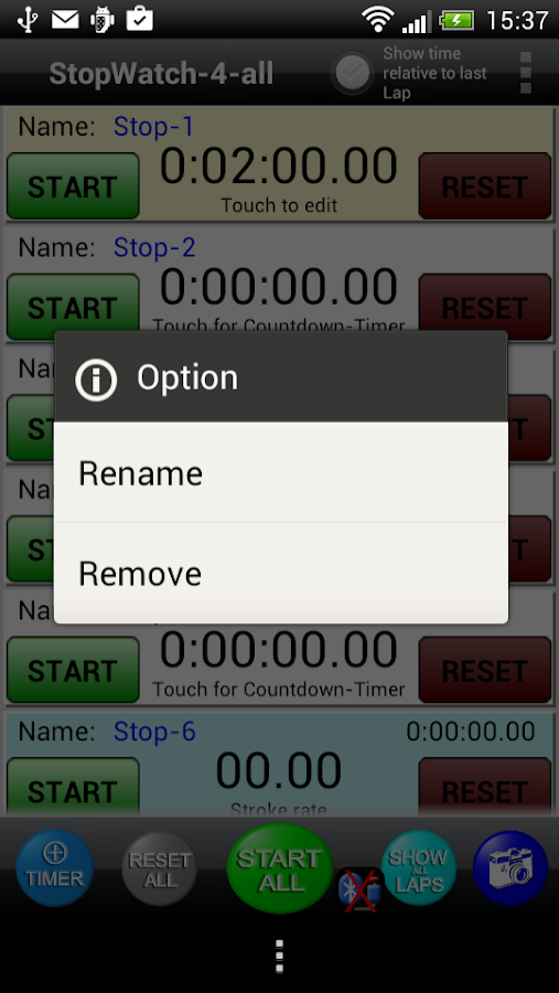 StopWatch 4 all Lite- screenshot