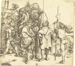 Photo: Albrecht Dürer (German, 1471 - 1528 ), Five Soldiers and a Turk on Horseback, 1495/1496, engraving, Rosenwald Collection